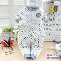 Unisex Spring / Autumn Long Cotton open Chest Baby clothes Undewear sets 2pcs 3 color Children Clothing 6sets lot For spring and Autumn