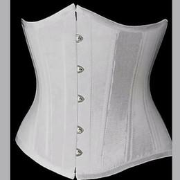 Wholesale Black White gothic Satin lace up underbust Corset Waist Cincher bodybuilding plus size XL XL XL XL