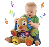 Wholesale Retail Musical Dog Laugh amp Learn Love to Play Puppy Baby Plush Musical Toys Singing English Songs CWZ0426