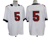 Wholesale White Elite Jerseys Hot Tampa Bay Team Quarterback Josh Freeman Football Uniforms Number Embroidery Cheap Sportswear Valued Souvenier