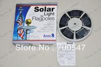 other garden flag - SVC389 Retail Package LED leds V W Solar Powered Garden Decor Light Top Flag Pole Flagpoles Landscape Lights Lamps