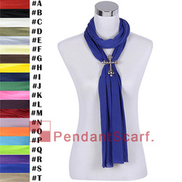 12PCS LOT Popular Blue DIY Necklace Jewellery Scarf For Women New Style Magnet Clasp Rhinestone Cross Pendant Scarf, Free Shipping, SC0017S