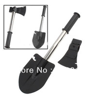 Wholesale DurableMilitary Type Steel Survival in Shovel Axe Saw Knife Combined Camp Tool Kit with Camouflage Pouch