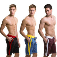 Wholesale pieces Ployester Men s shorts casual sports Gym running Male beach clothes loose basketball shorts Active surf