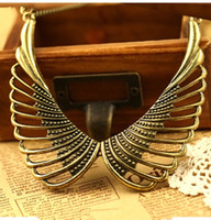 Wholesale European and American exaggerated hollow out angel wings sweater chain woman fashion jewelry price