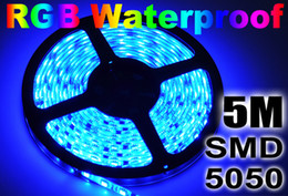 500M 100 rolls Led Strip Light RGB 5M 5050 SMD 300Led Waterproof IP65 led ribbon on sales Christmas Gifts FedEx free shipping