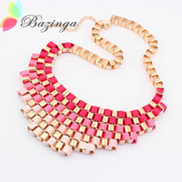 Wholesale New Arrival Classical Hand Made Statement Necklaces Twist Fabric Chokers Collar Necklaces Women Accessories Random Color
