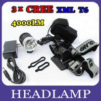 Wholesale Ultra Bright Lumen x CREE XML T6 LED Front Bicycle Lamp Bike Light Headlamp Flashlight Modes Outdoors Sports