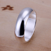 betrothal rings - 925 Sterling Silver Jewelry Simple Slippy Circle Sterling Silver Wedding Ring Engagement Betrothal Rings R025