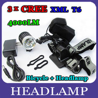 Wholesale 4000 Lumen x CREE XML T6 LED Bicycle Cycle Bike Light Headlight Headlamp Head Torch Modes mah long lasting One Year Warranty By DHL
