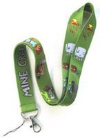 Wholesale Minecraft Lanyard MP3 cell phone keychains Neck Strap Lanyard