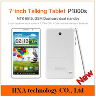 al por mayor 7 inch mtk6515-JXD P1000S 7 pulgadas androide 4,1 512MB + 256MB MTK6515 dual tarjeta SIM dual de espera doble cámara bluetooth FM teléfono tableta pc