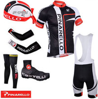 Wholesale white and black Pinarello cycling jersey bibs shorts and Arms Legs scarf amp Shoes covers drop shipping supported