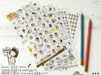 Wholesale NEW set cute joy girls PVC sticker note Decoration label Multifunction Korea style E705