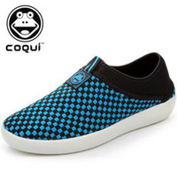 Wholesale COQUI Cool Fun new walk walker shoes plaid men s knit series casual shoes breathable shoes men nifei