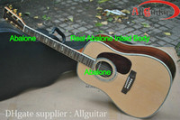 Wholesale Classical Acoustic Dreadnought Guitar D45 model Natural spruceTop AAA Back side acoustic guitar Incomparable guitar