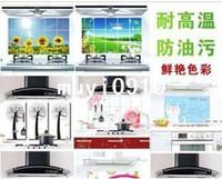 Graphic vinyl PVC Animal new Quality aluminum foil oil pollution smoke tile kitchen cabinet decoration stickers