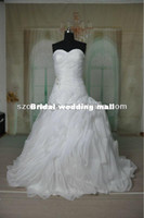 Model Pictures Velvet Modern OUMEIYA RWD106 China Custom Made Girls Sweetheart Neckline Puffy Ball Gown Wedding Dresses