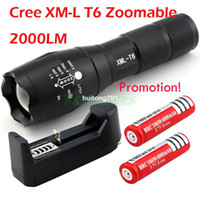 Wholesale UltraFire E17 CREE XM L T6 LM High Power Torch Zoomable LED Flashlight Torch light xAAA or x18650 Battery Charger