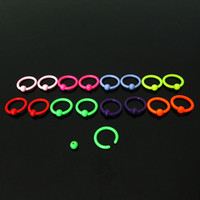 Wholesale Hot Fashion Charm Gauges BCR piercing neon colors G mm surgical Stainless Steel captive ring