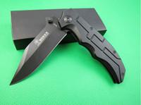 achat en gros de poignée de couteau en métal-BOKER Plus Berlin mur Anniversary Edition Couteaux de poche Couteau de chasse pliant 58HRC Metal Blade Aluminium Poignée 1pcs freeshipping
