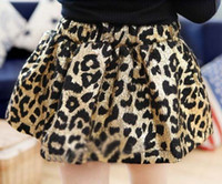 Wholesale Children Clothing Princess Skirt Fashion Leopard Print Skirts Mini Skirt Girls Cute Short Skirts Pleated Skirt Kids Clothes Lantern Skirts