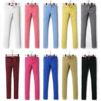 Wholesale 2014 New Candy Colored Women s Jeans Elastic Pants Fashionable Ladies Sexy Slim Jeans Girl s Trousers Denim Jeans Hot Sale