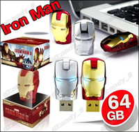 Wholesale 5pcs GB Avengers Iron Man Cartoon USB Flash Memory Thumb Pen Drive Drives Stick Sticks Disks Discs Pendrives Thumbdrive Cheap