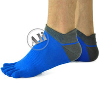 Wholesale 3 Pack NEW Men Antibacterial Breathable Short Tube Cotton Five Toe Socks Sports socks Shoe size US mm