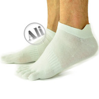 Wholesale 10 Pack Men Antibacterial Breathable Short Tube Cotton Five Toe Socks Sports socks Shoe size US mm
