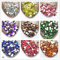 Wholesale MOQ MM Acrylic Rhinestones Beads Buttons Glitter for Nail Art or DIY Project Material_Flatback Silver Bottom
