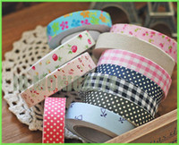 Wholesale New styles fabric flower series washi mashing tape office adhesive tape home decoration flowers tape photo frame decoration accessory tape