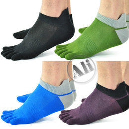 Wholesale 10 Pack NEW Antibacterial Breathable Short Tube Cotton Five Toe Socks Sports socks