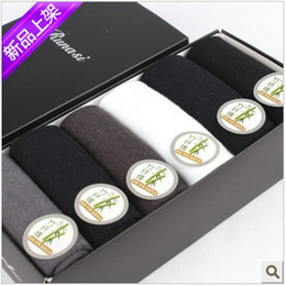 Wholesale 6pairs Men Socks man s Bamboo Fiber Deodorant sock Winter solid color thick socks