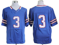 Wholesale 2013 Blue Quarterback EJ Manuel Jerseys Mens Elite Jerseys American Football Shirts Buffalo Team High Quality Breathable Sportswear