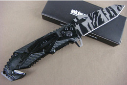 Wholesale Boker X17 assisted folding knife camouflage Aluminum Handle C hrc bar pattern face knives freeshipping