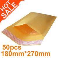 Kraft Bubble bubble envelopes - Yellow Brown Kraft Bubble Mailers Padded Envelopes Bags x270mm