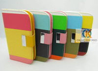 Leather i9100 - Colorful Wallet Leather Credit Card Money Slot with Soft TPU Back Case for Samsung galaxy s2 I9100