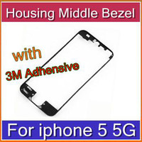 Wholesale DHL For iPhone Middle Frame LCD Bracket Housing Middle Bezel for iPhone5 G Bracket with M Adhensive SHA I