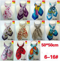 Wholesale women silk scarves small scarf stewardess small square scarves mixed color