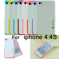 Wholesale SGP CASE comprehensive protection of mobile phone shell Double color combination Case for Apple iphone G S iphone4S