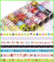 Wholesale 100PCS Mix Washi Masking Paper Tape Colorful Sticky Creative Stationery DIY Grid Stickers Children Gifts cartoon washi tape photo frame tape