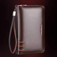 Wholesale New Business Fashion Genuine Cowhide Leather Men Clutch Bag Business Casual Wallet