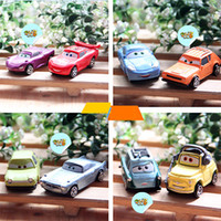 Wholesale new a set of pixar cars figures lightning mcQueen sally mater guido doll model car