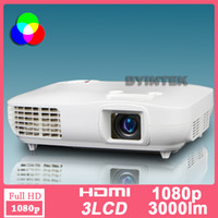 Wholesale Best Home Theater BluRay x1080 P HDTV LED LCD Video FULL HD Projector inch Screen DVI HDMI RS232 Office Party Game PS3