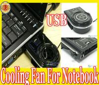 Wholesale 2013 Mini Vacuum Case Cooler USB Cooling Fan for Laptop Notebook idea FYD Blue LED light amp