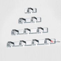 Wholesale Modern Bathroom Cabinet Mirror Crystal Lights LED Wall Sconce Lighting Fixtures Attentive After sales