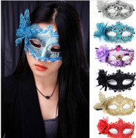 Wholesale Halloween Party Painted Masks Masquerade Masks Butterfly Princess Mask