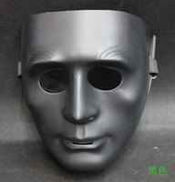Wholesale 4 colors NEW MEN S Models Sarkozy Mask Dancers Dance HIP HOP Mask White Ghost Step Dance white black green blue MASk10