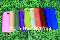 Wholesale For Samsung Galaxy S3 S III i9300 clear Cove bright color cell phone case via HK Post Air mail